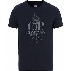 C.P. Company Printed Tee Navy