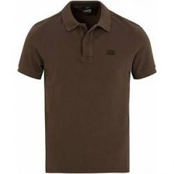 C.P. Company Short Sleeve Logo Polo Shirt Cloud Burst