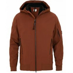 C.P. Company Soft Stretch Shell Jacket Brown