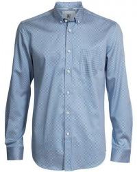 CR7 Cristiano Ronaldo CR7 Skjorte Slim fit 100% bomuld i blå med mønster 8667 721 33