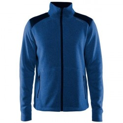 craft Noble Zip Jacket Heavy Knit Fleece Men - Darkblue * Kampagne *