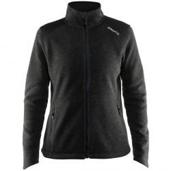 craft Noble Zip Jacket Heavy Knit Fleece Women - Black * Kampagne *