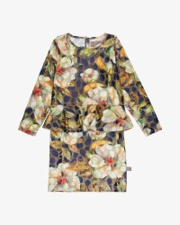 Creamie Glitter Print kjole
