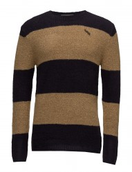 Crewneck Pullover In Brushed Merino Wool Blend Quality