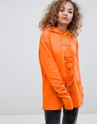 Criminal Damage Lace Hoodie - Orange