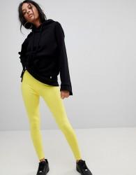 Criminal Damage Legging with Logo Banding - Yellow