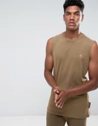 Criminal Damage Maverick Sleeveless T-Shirt Vest - Green