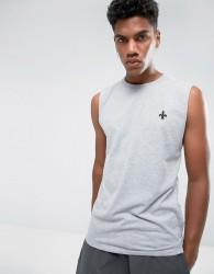 Criminal Damage Maverick Sleeveless T-Shirt Vest - Grey