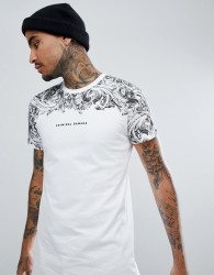 Criminal Damage Muscle Baroque T-Shirt - White