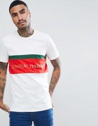 Criminal Damage Muscle Logo T-Shirt In White - White