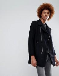 Criminal Damage Nuckie Zip Thru Coat - Black