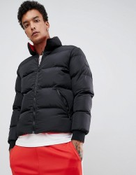Criminal Damage reversible puffer jacket in black - Black