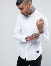 Criminal Damage Shirt In Slim Fit - White
