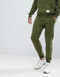Criminal Damage Skinny Logo Joggers In Khaki - Green