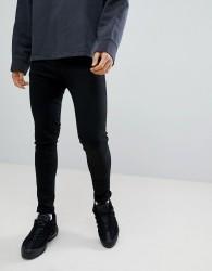 Criminal Damage Super Skinny Jeans In Black - Black