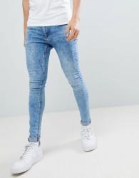 Criminal Damage Super Skinny Jeans In Blue - Blue