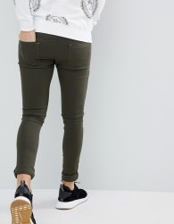 Criminal Damage Super Skinny Jeans in Olive - Green