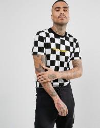 Criminal Damage T-Shirt In Checkerboard - White