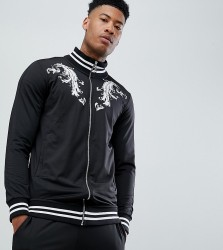 Criminal Damage Track Top In Black Baroque Print Exclusive To ASOS - Black