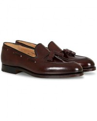 Crockett & Jones Cavendish Tassel Loafer Burgundy Cordovan men UK8 - EU42 Rød