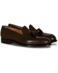Crockett & Jones Cavendish Tassel Loafer Dark Brown Calf men UK10,5 - EU45 Brun