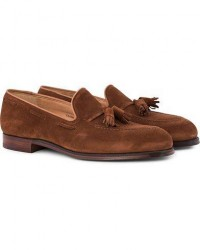Crockett & Jones Cavendish Tassel Loafer Polo Suede men UK10,5 - EU45 Brun