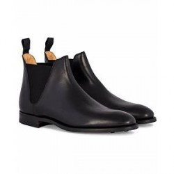 Crockett & Jones Chelsea 8 Boot Black Calf Rubber Sole