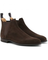 Crockett & Jones Chelsea 8 Boot Dark Brown Suede men UK9 - EU43 Brun