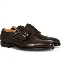 Crockett & Jones Lowndes Monkstrap City Sole Dark Brown Calf men UK10 - EU44,5 Brun