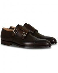 Crockett & Jones Lowndes Monkstrap Dark Brown Calf men UK7 - EU41 Brun
