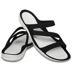 Crocs Swiftwater Sandal W - Black/White - US W8 (EU 38-39)