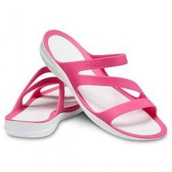 Crocs Swiftwater Sandal W - White/Pink * Kampagne *