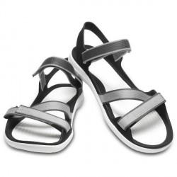 Crocs Swiftwater Webbing Sandal W - Black/White * Kampagne *