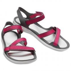 Crocs Swiftwater Webbing Sandal W - Pink/White * Kampagne *