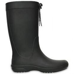 Crocs Women Freesail Rain Boot - Black - US W8 (EU 38-39)