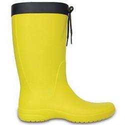 Crocs Women Freesail Rain Boot - Yellow - US W8 (EU 38-39)
