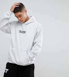 Crooked Tongues Hoodie With Logo Print In Grey - Grey