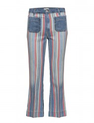 Cropped Flare Disco Stripes