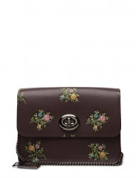 Cross Stitch Floral Print Bowery Crossbody- With Glitter