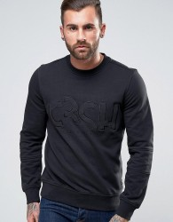 Crosshatch Logo Sweatshirt - Black