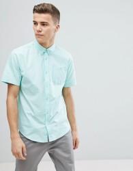 D-Struct Basic Oxford Short Sleeve Shirt - Green