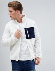D-Struct Borg Pocket Zip Through Jacket - White