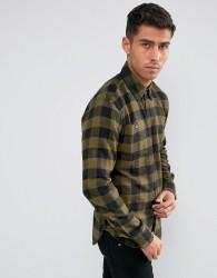 D-Struct Buffalo Check Shirt - Green