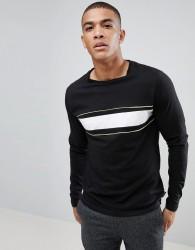 D-Struct Chest Stripe Long sleeve Top - Black