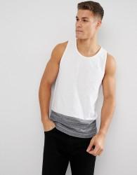D-Struct Contrast Panel Vest - White