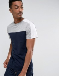 D-Struct Cut and Sew Panel T-Shirt - Navy