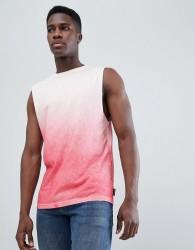 D-Struct Dip Dye Sleeveless Vest - Pink