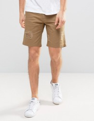 D-Struct Distressed Chino Shorts - Green