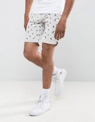 D-Struct Jelly Fish Print Shorts - White