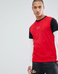D-Struct Long Sleeve Double Layer T-Shirt - Red